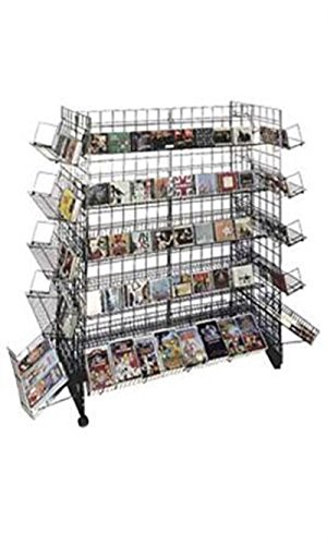 Black CD/DVD Grid Gondola Unit 48'' x 24'' x 66'' by STORE001
