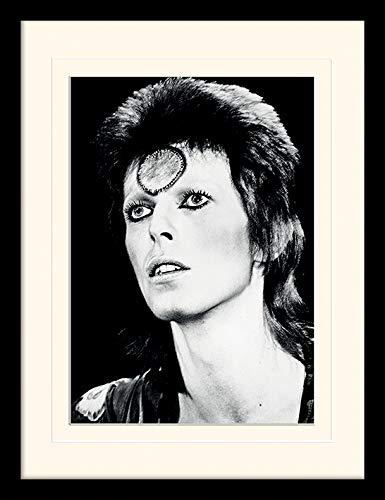 """b03d87dc81 David Bowie """"Ritratto Montato e Stampa con Cornice, Multicolore, ..."""