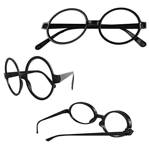GREATLOVE 10 pcs Children's Plastic Doctor Without Lens Glasses - Halloween Costume Party - Frames Glasses Lei