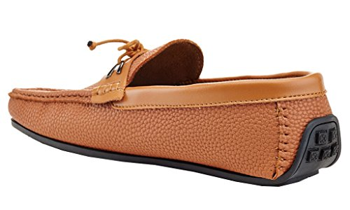 Low Franco Shoes 8718 Textured Cut Karl On 9 Men's Slip Vanucci Tan Adolfo Driving Loafers Driving FqYSRS
