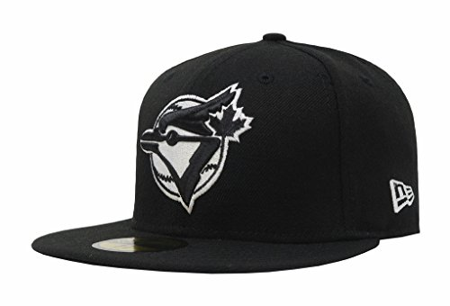59fifty Cap League Fitted Logo - MLB Toronto Blue Jays Black with White Logo 59FIFTY Fitted Cap, 7
