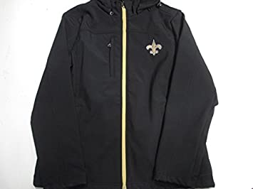dd984dbf08 NFL New Orleans Saints Womens Large Full Zip Embroidered Hooded Soft Shell  Jacket ANOS 14 L