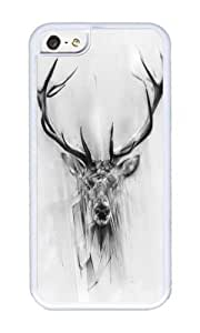 Iphone 5C Case,WENJORS Personalized Red Deer Soft Case Protective Shell Cell Phone Cover For Iphone 5C - TPU White