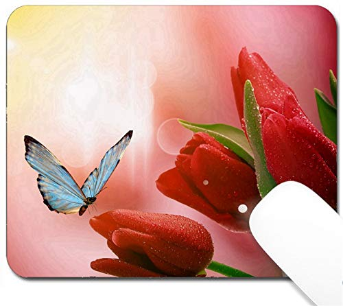 MSD Mouse Pad with Design - Non-Slip Gaming Mouse Pad - Beautiful Spring Flowers Image 18815279 Customized Tablemats Stain Resistance Collector