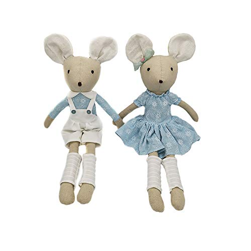 Sandy Adorable Mouse Dolls,Soft Stuffed Animals,Toy&Gift for Kids or Friends,Set of Two(21.7 -
