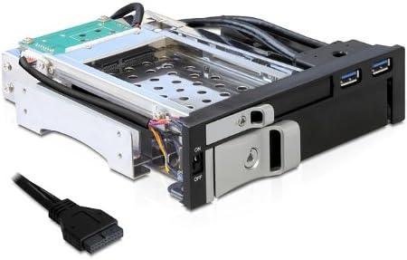 DeLOCK 5.25 Mobile Rack - Caja de Disco Duro (SATA, 2,5