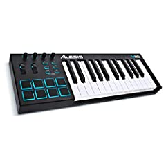 The Alesis V25 is a powerful, intuitive MIDI controller that lets you take command of your music software with a series of pads, knobs, and buttons. With 25 full size velocity sensitive keys and Octave Up/Down buttons, you can expand the keyb...