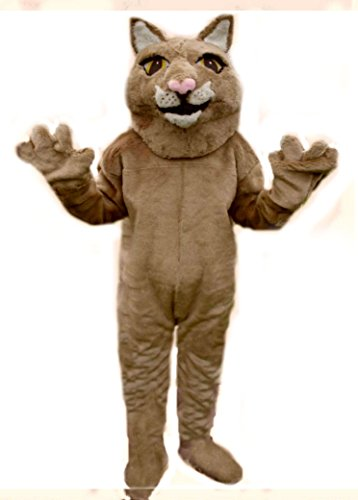 Mascots USA by Cjs Huggables Custom Pro Low Cost Mountain Lion Mascot Costume