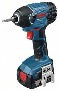 Bosch GDR 14,4 V-LI - Atornillador de impacto (14.4V, Ión de litio, 45 min, 14.5 cm, 22.3 cm, 1.4 kg) Negro, Azul