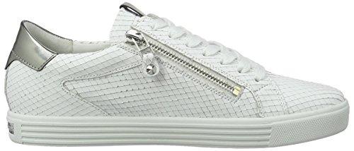 Kennel und Schmenger Schuhmanufaktur Damen Town Sneaker Weiß (bianco/gunmetal Sohle weiss)