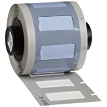 """Brady PSPT-250-1-WT TLS 2200 And TLS PC Link PermaSleeve 0.439"""" Height, 1.015"""" Width, B-342 Heat-Shrink Polyolefin White Color Wire Marker Sleeves (100 Per Roll)"""