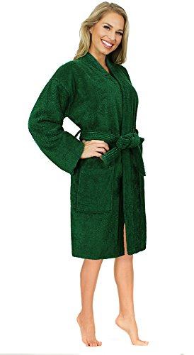 Premium Hotel Spa Collection Turkish Bathrobe, Terry Kimono Style 100% Cotton - (Terry Cloth Spa Robe)