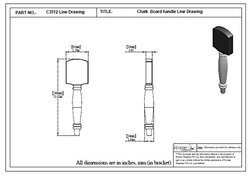 Krome Dispense Chalk Board Wooden Handle for Homebrew and Kegerator - C3512
