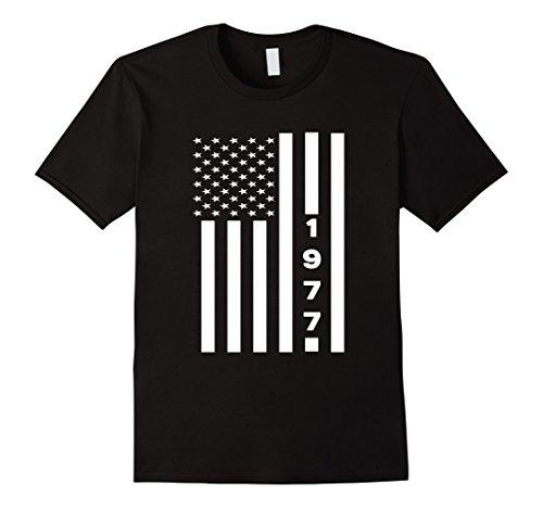 Mens American Flag Legend 1977 40 Years Old 40th Birthday Shirt Medium Black (Bday Gifts For Him)