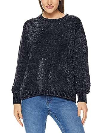St. Cloud Label Women's Cosy Bell Sleeve Sweater, Pewter Grey, Medium