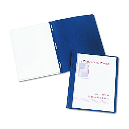Avery Plastic File Folder (Avery Durable Clear Front Report Covers, Dark Blue, Pack of 25 (47961))