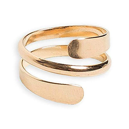 California Toe Rings 14k Gold Filled Yoga Wire Wrap Band Adjustable Thumb Ring