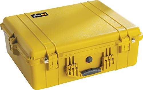 Pelican 1600 Camera Case With Foam (Yellow)