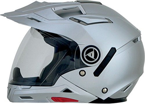 AFX FX-55 7-In-1 Solid Helmet , Gender: Mens/Unisex, Helmet Type: Modular Helmets, Helmet Category: Street, Distinct Name: Silver, Primary Color: Silver, Size: Sm 0104-1250