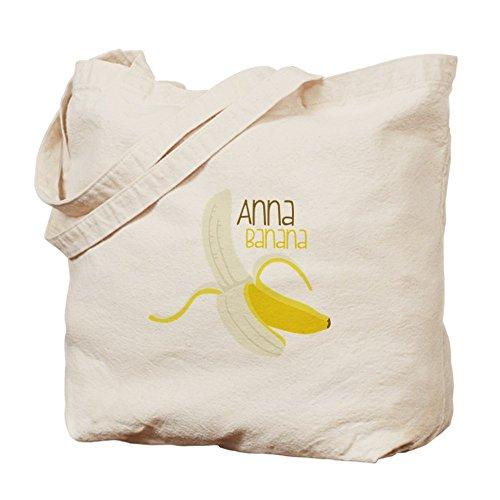 CafePress–Anna Banana–Borsa di tela naturale, panno borsa per la spesa