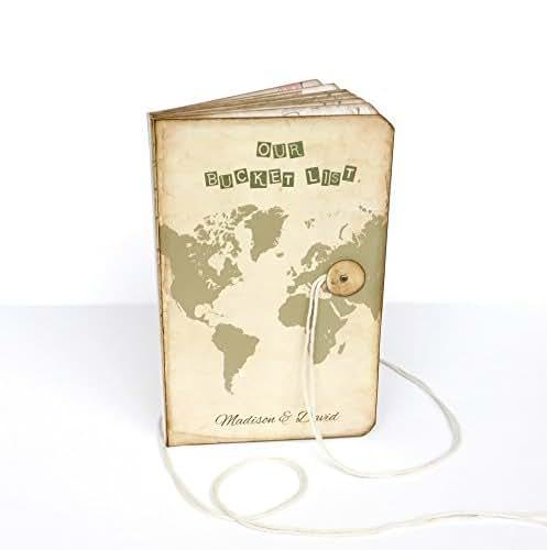 Amazon.com: Our Bucket List Journal, Custom Map Travel Log