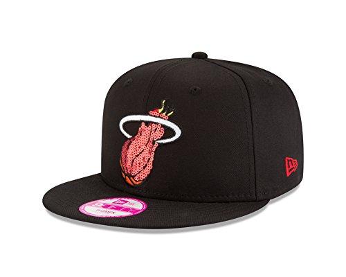 NBA Miami Heat Women's Glimmer Mixer 9Fifty Snapback Cap, One Size, Black