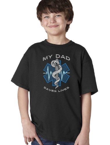 JTshirt.com-19852-MY DAD SAVES LIVES Youth T-shirt / Medical Ambulance Paramedic EMT Family PrideTee-B00A3C62ES-T Shirt Design