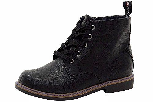 ben-sherman-boys-buckingham-fashion-black-ankle-boots-shoes-sz-3