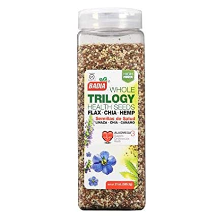 Badia Trilogy Health Seeds Whole 21 oz (Pack of 2)