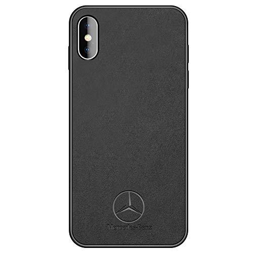 - iPhone X Case Luxury Car Mercedes Benz Logo Super Slim Leather Case