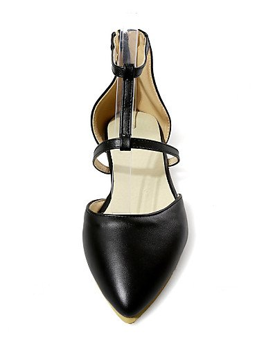 PDX/ Damenschuhe - Ballerinas - Outddor / Kleid / Lässig - Kunstleder - Flacher Absatz - Spitzschuh - Schwarz / Grün / Beige , black-us6.5-7 / eu37 / uk4.5-5 / cn37 , black-us6.5-7 / eu37 / uk4.5-5 /