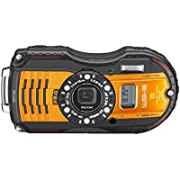 WG-5 GPS Orange Digital Camera Bundle includes camera, carrying case, 32GB memory card, micro fiber cloth, lithium battery, mini tripod, floating wrist strap, card reader, lens cleaning kit and LCD screen protectors Explained Review Image