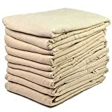 "Massage Sheets Set - Flannel Flat Sheets - Professional Grade Massage Linens - 60x100"" - Tan/Beige/Natural (Pack of 6)"