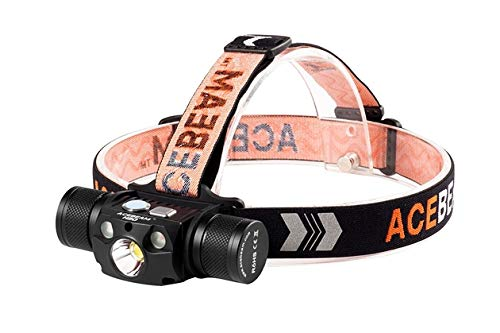 ACEBEAM H30 XHP70.2 LED Rechargeable Headlamp 4000 Lumens (RED+NICHIA 6000K)
