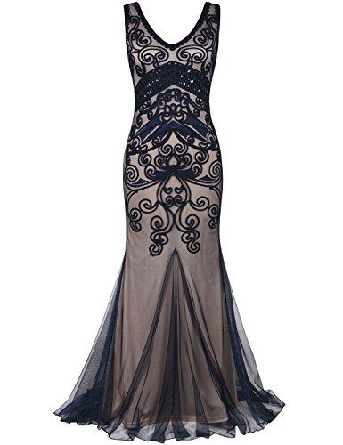 Formel Longue Prom Prettyguide Années Soirée 20 Marine Gown Robe De Femmes Beige Sirène qqv6gY