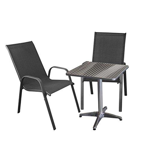 Amazon.de: Wohaga 3tlg. Balkonmöbel Set Balkontisch 60x60cm + 2X ...