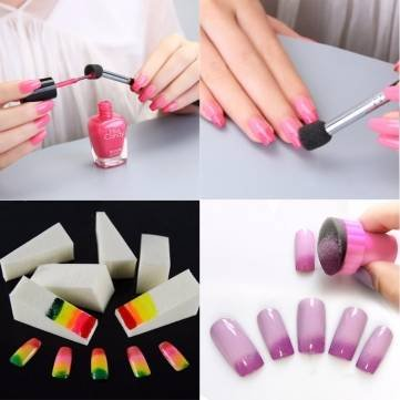 Buy nail art diy sponge pen stamp buffer stamping polish transfer nail art diy sponge pen stamp buffer stamping polish transfer manicure set kit prinsesfo Gallery