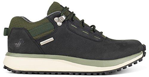 (Forsake Range Low - Women's Waterproof Leather Approach Sneaker (6 B(M), Black/Olive))