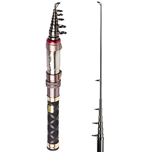 Pocket Fishing Pole Ultralight Travel Telescopic Spinning Rods for Bass Trout Fishing in Freshwater(6.89ft-7.87ft) (7' Pull Back)