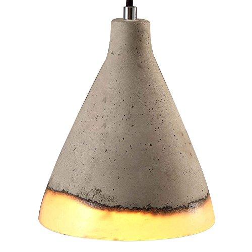 Vintage Pendant Light, Motent Industrial Grey Cement Hanging Lamp, Concrete Resin Lampshade, Modern Minimalist Simplicity 1-Light String Drop Lighting Fixture, 7