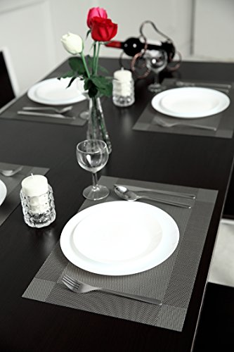 Large Product Image of SiCoHome Placemats,Vinyl Dining Room Placemats for Table,Set of 4