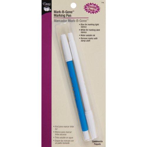Dritz 710 Mark-B-Gone Marking Pen Combo Pack, Blue & White
