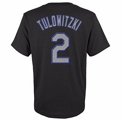Majestic Troy Tulowitzki Colorado Rockies Youth MLB Player Black -