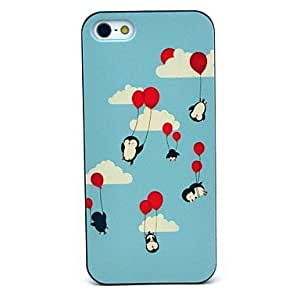 LZX Flying Balloon Penguin Pattern Hard Case for iPhone 5/5S