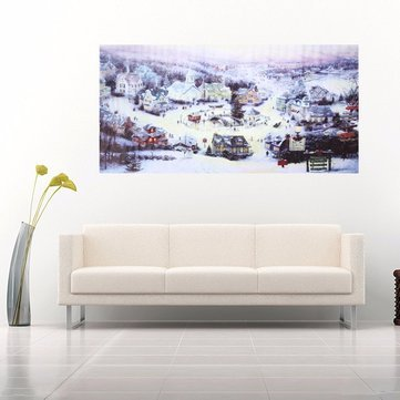 Home Decor Painting - Paintings Wall Decor - Christmas Small Town ...