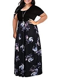 9a6554161c9 Women s Chevron Print Summer Short Sleeve Plus Size Casual Maxi Dress