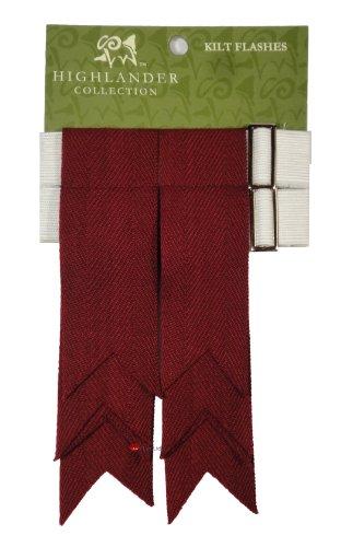 Kilt de laine clignote Maroon