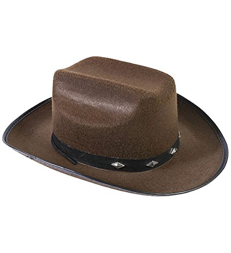 - Funny Party Hats Cowboy Hat - Studded Cowboy Hat - Cowboy Costume accessories - Brown Cowboy Hat
