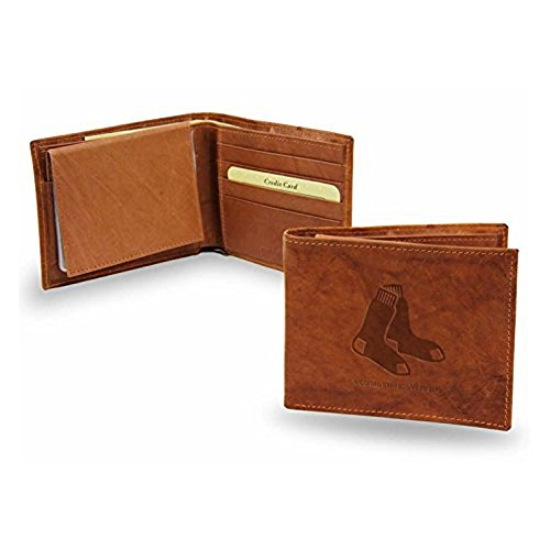 Boston Red Sox Official MLB Leather Billfold Wallet by Rico Industries Inc.