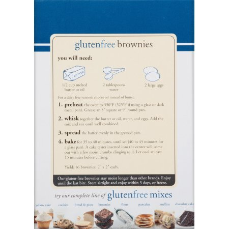 PACK OF - 8 King Arthur Flour Gluten Free Brownie Mix 17 oz. Box by Great Value (Image #8)